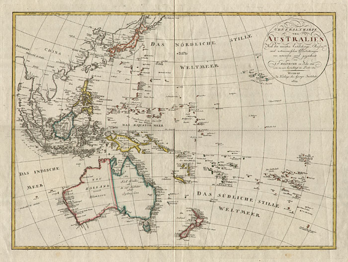 Map Of Southeast Asia Australia And New Zealand.Old Maps Australia New Zealand Southeast Asia Japan Oceania
